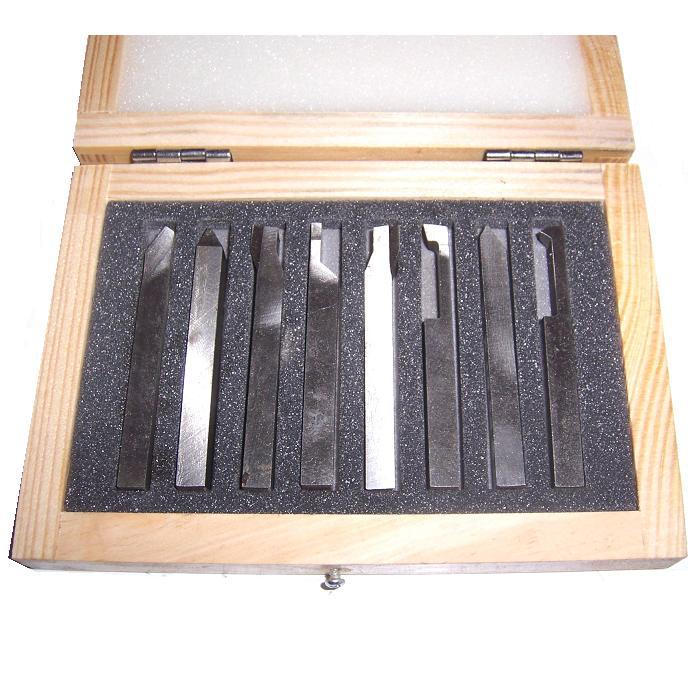 jeu de 8 outils de tournage hss 12x12x100mm exmachina shop. Black Bedroom Furniture Sets. Home Design Ideas